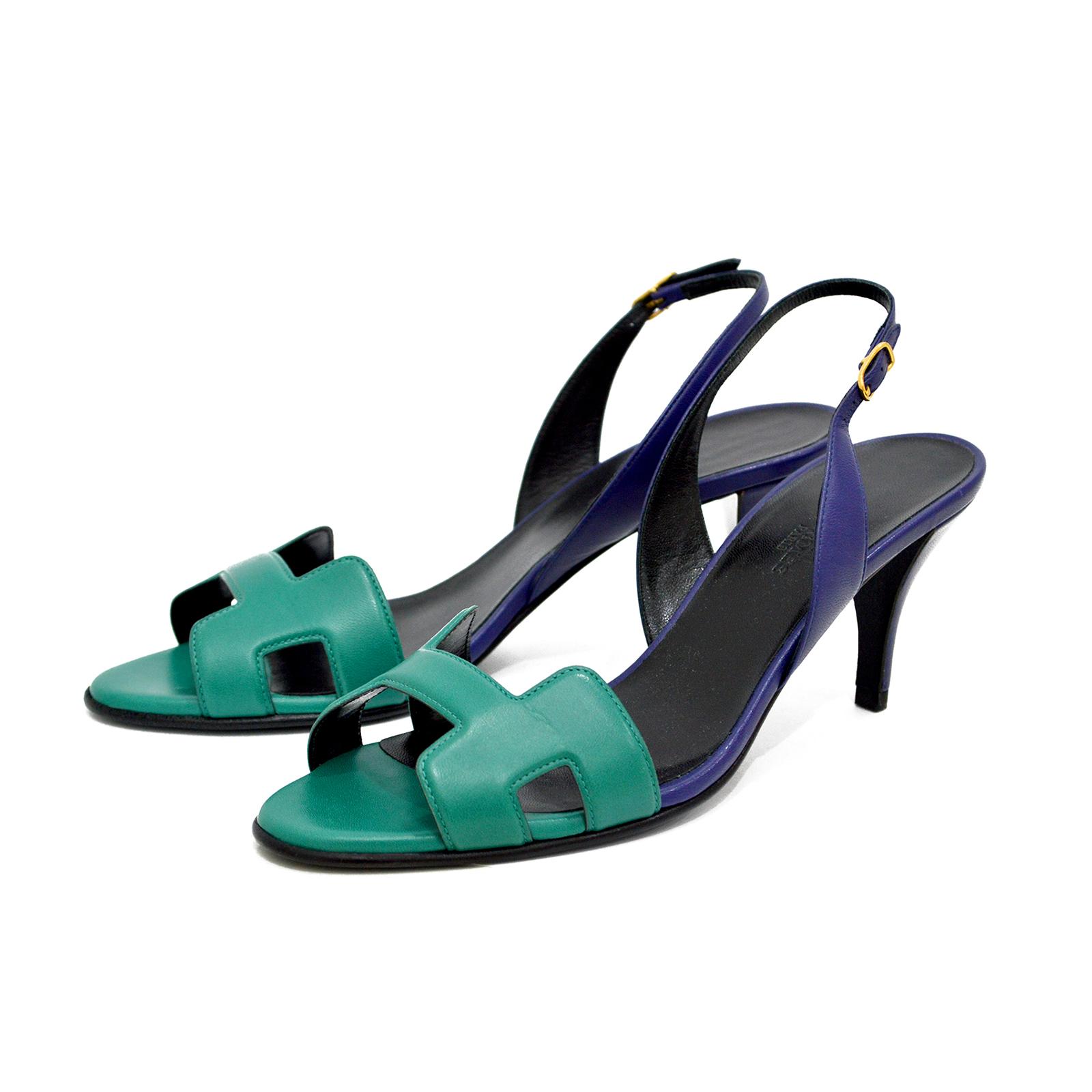 Hermes Bicolor Night 70 Heels Sandals