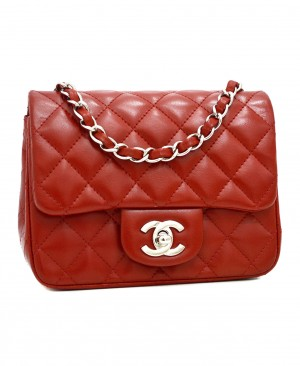 CHANEL Classic Mini Flap Bag Red