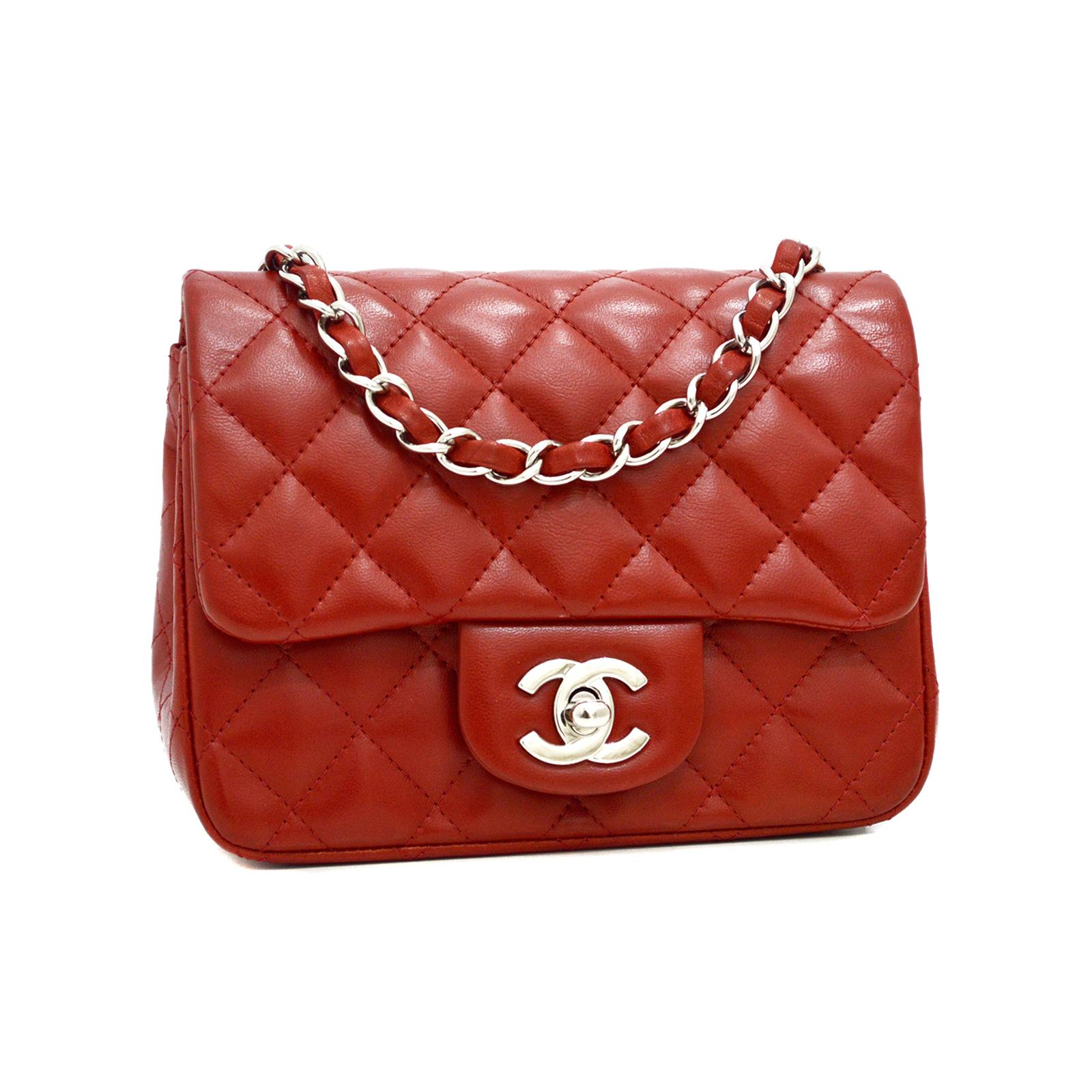 CHANEL Classic Mini Flap Bag Red