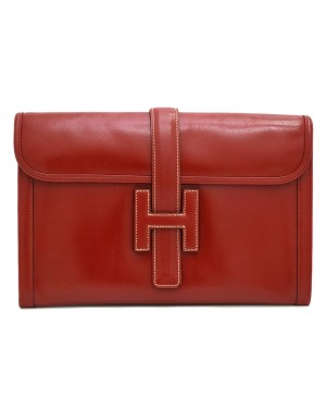 Hermes Rouge Red JIGE Clutch HM130020