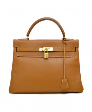 HERMES Gold Courcheval Kelly 32 HM180133