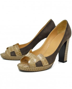 HERMES Crocodile H Pumps Heels HM130088