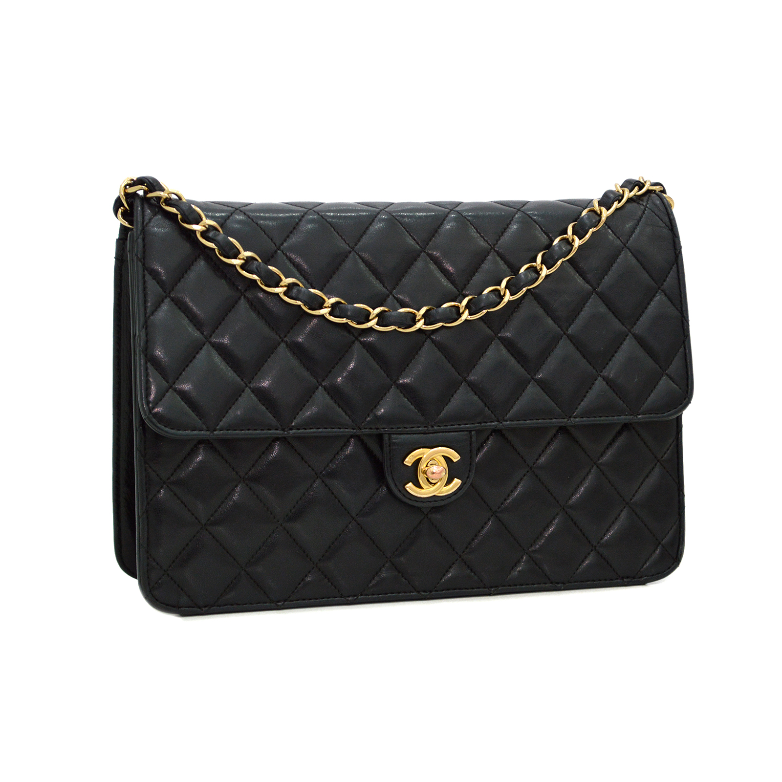 CHANEL Vintage Matelasse Classic Flap Bag Clutch CC190030