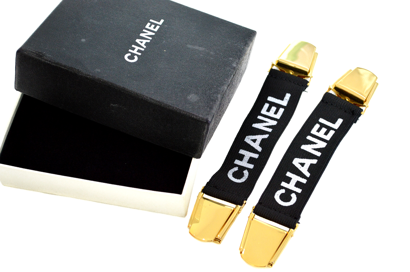 CHANEL Vintage Sleeves Waist Clip Garter Belt CC0X0001g