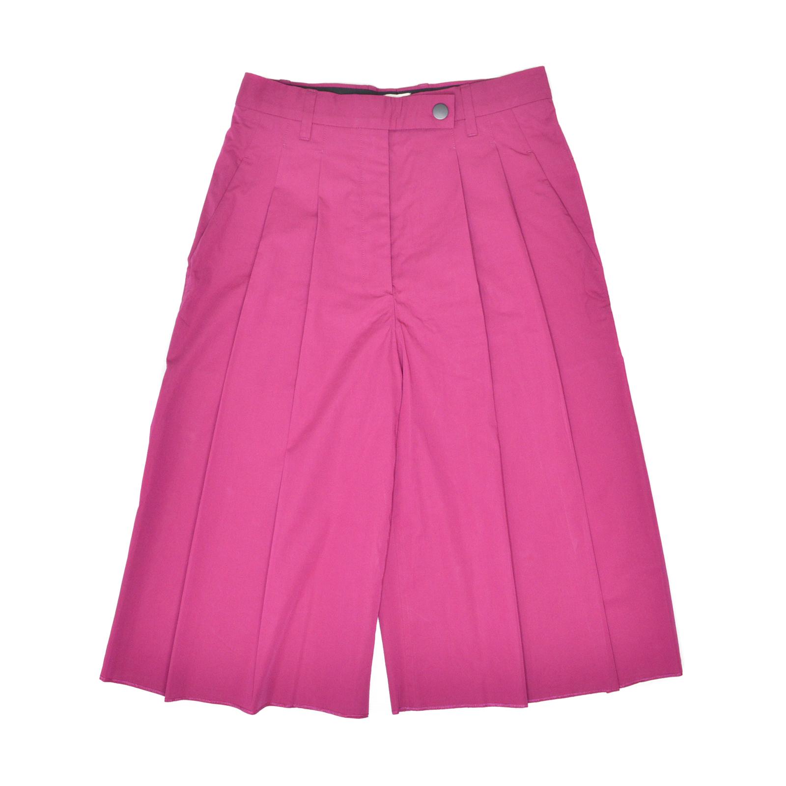 HERMES Rose Pourpre Bermuda Culottes Pants HM150018