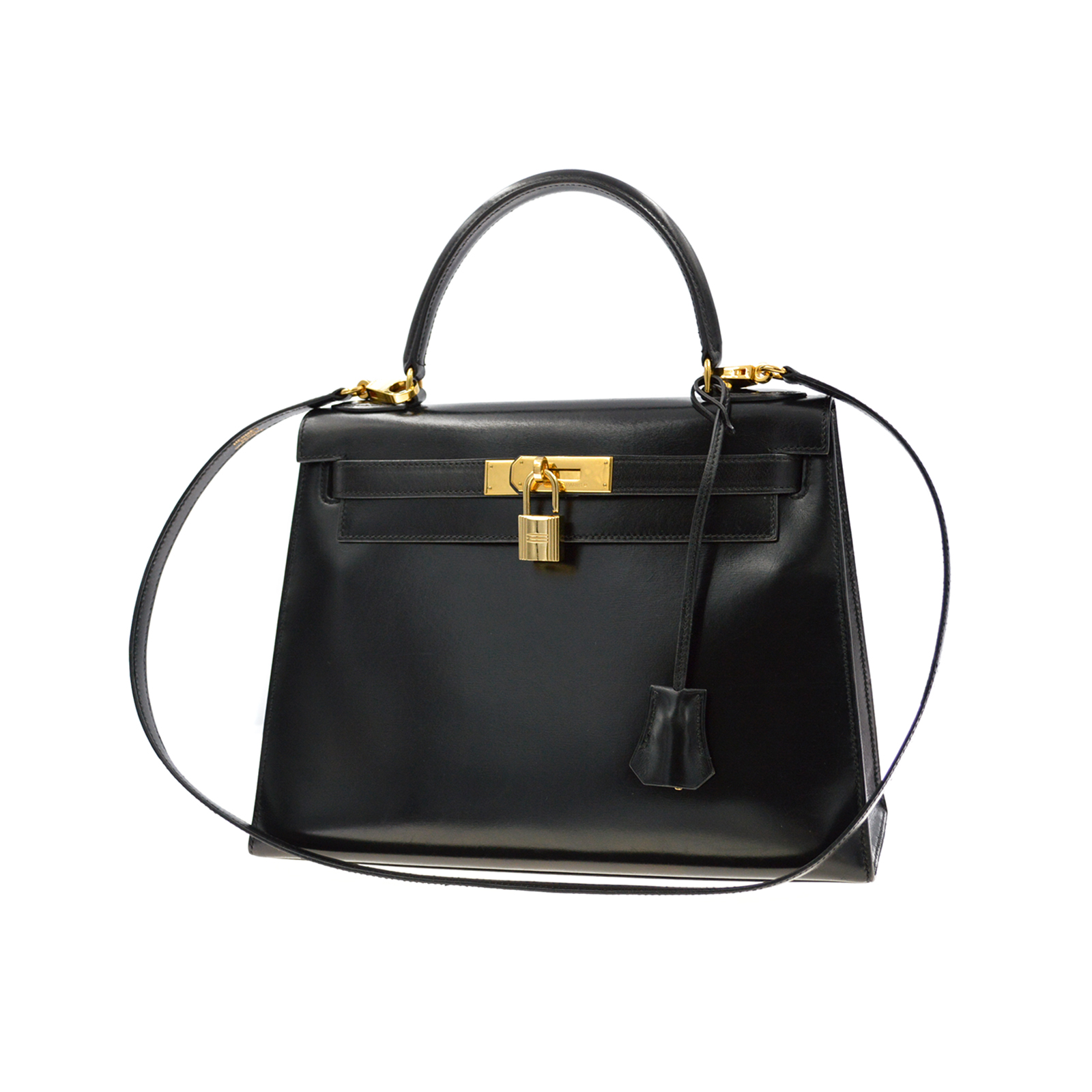 HERMES Kelly 28 Bag Black Box Sellier HM190145