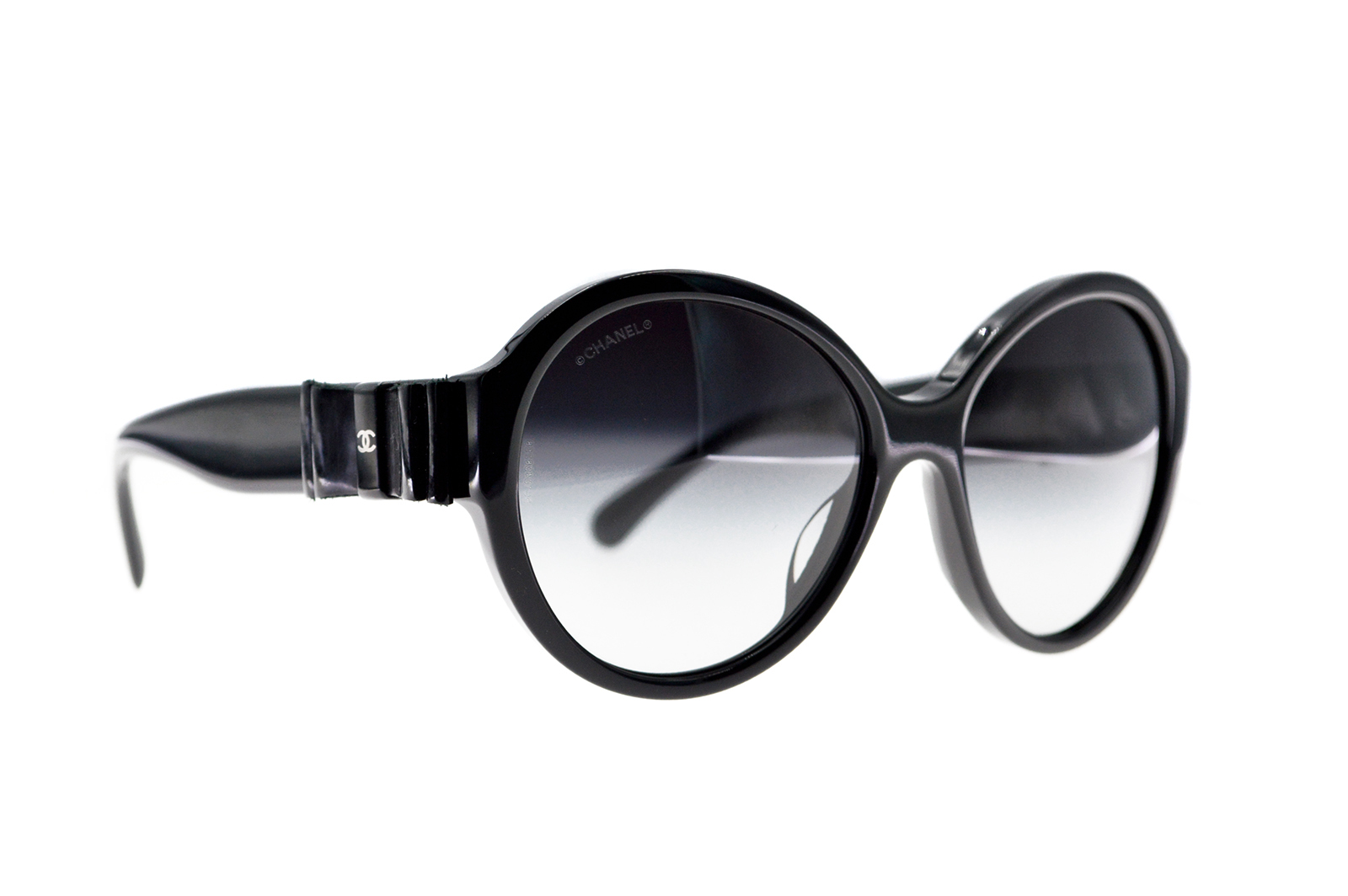 CHANEL Leather Ribbon Bow Sunglasses CC150003a