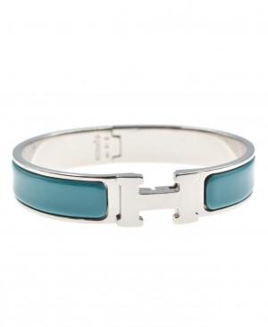 HERMES Clic Clac H Bracelet Blue HM190158