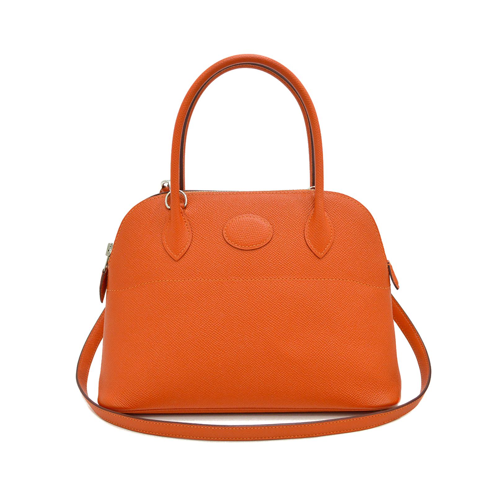 HERMES Feu Orange Bolide 27 Bag HM190152