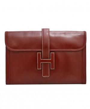 HERMES Rouge H Jige 29 PM Clutch Bag HM200178
