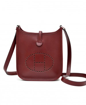 HERMES Evelyne Mini TPM Rouge H Box calf leather HM200174