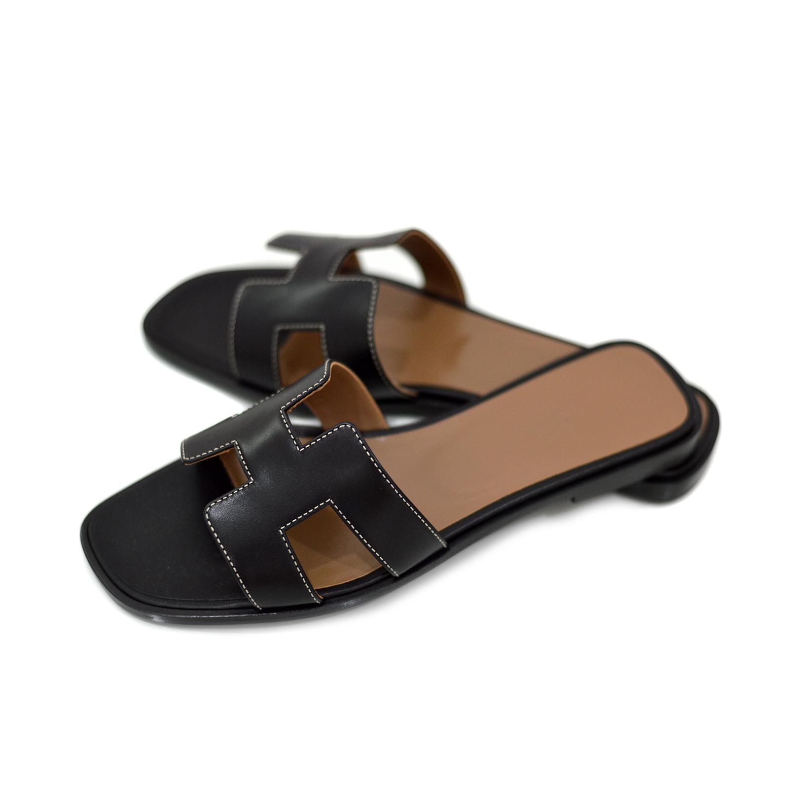 Home DESIGNERS Hermes Hermes Oran Sandals. HM170071 550fd384b4